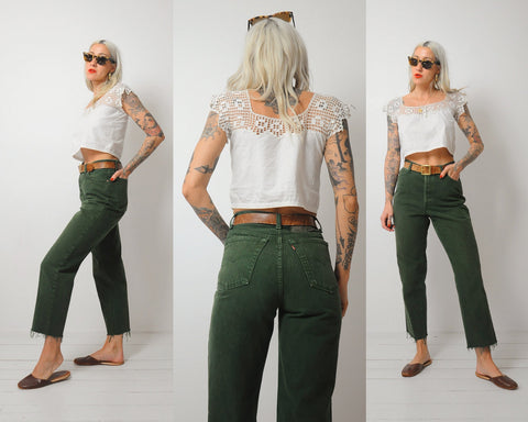 Green Levi's 501 Jeans 29x27