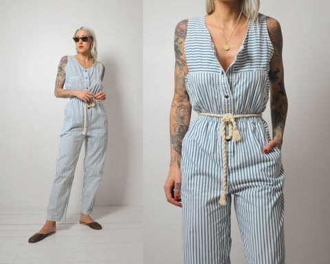 Driftwood Striped Jumpsuit