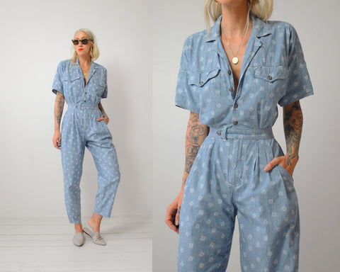 Josie Chambray Jumpsuit