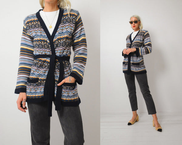 70's Kismet Striped Cardigan