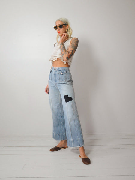 70's Noir Heart Bellbottoms