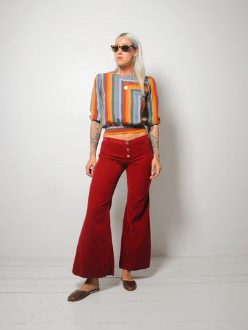 70's Merlot Corduroy Bellbottoms