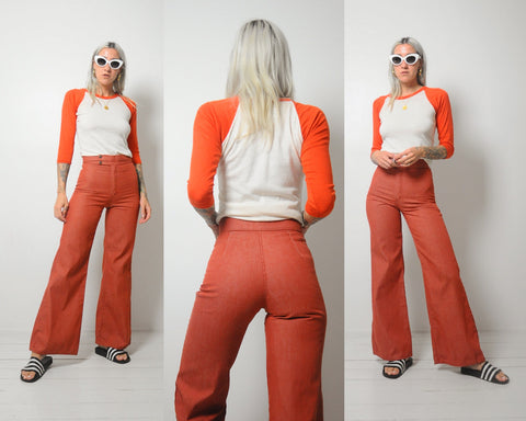 70's Brick Flared Jeans 26x31