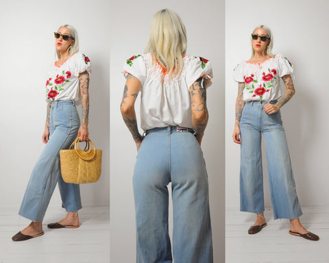 70's Wide Leg Bellbottoms 25x28
