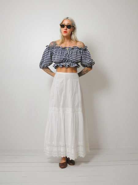Paloma Edwardian Cotton Skirt