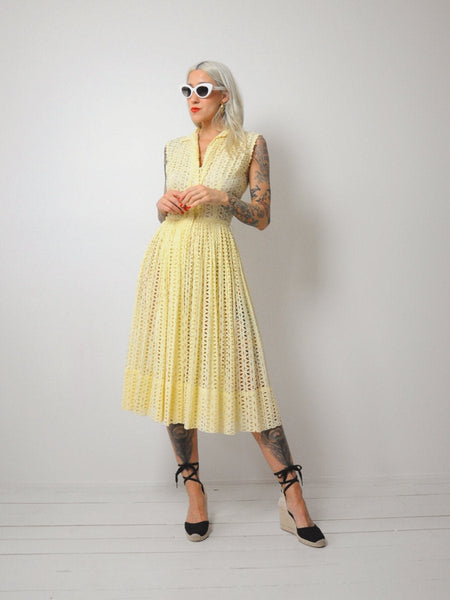 50's Faithful Eyelet Shirtdress