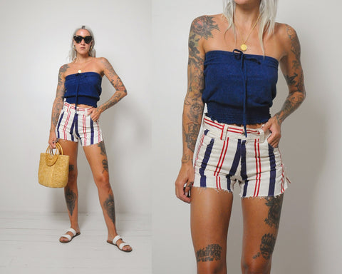 Surf Striped Cut Off Shorts