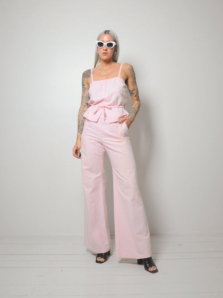 Pink Bellbottom 2 piece
