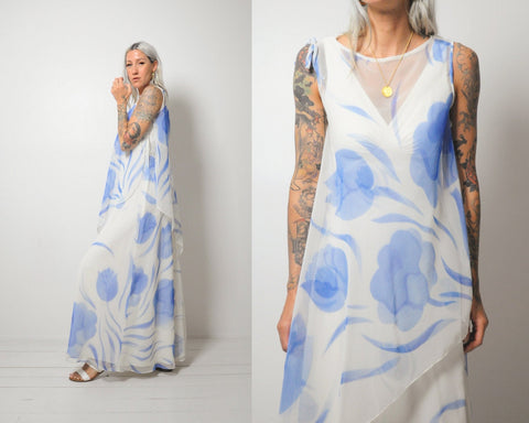 Chiffon Watercolor Dress