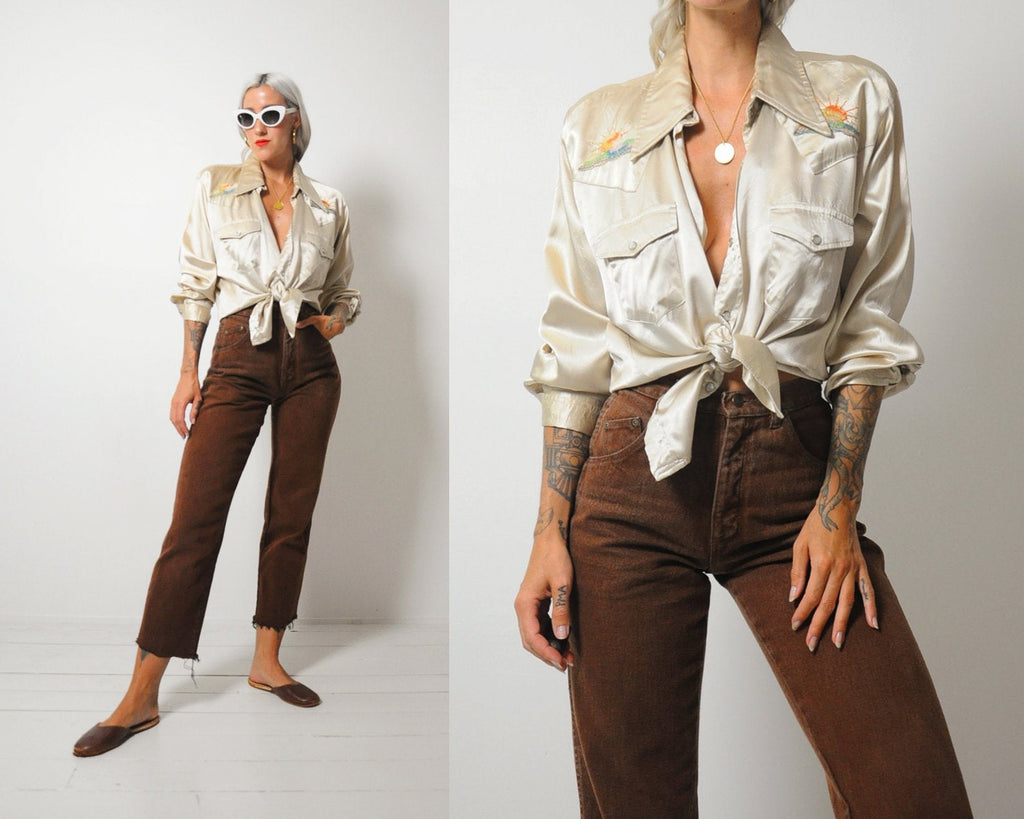 70's Saddle Up Satin Shirt
