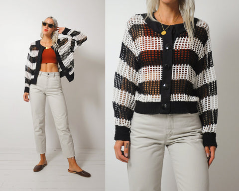 Black Stripe Lattice Jacket