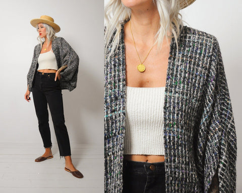 Woven Cocoon Jacket