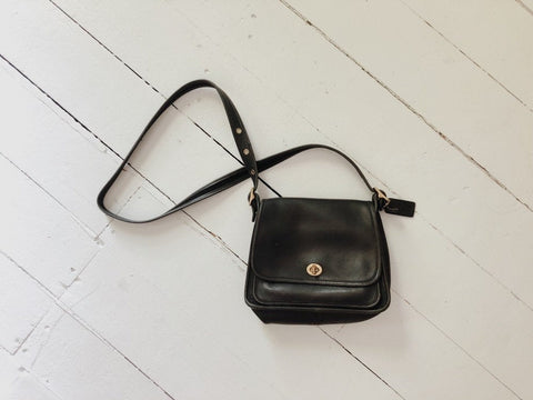 Black Coach Rambler Legacy Bag