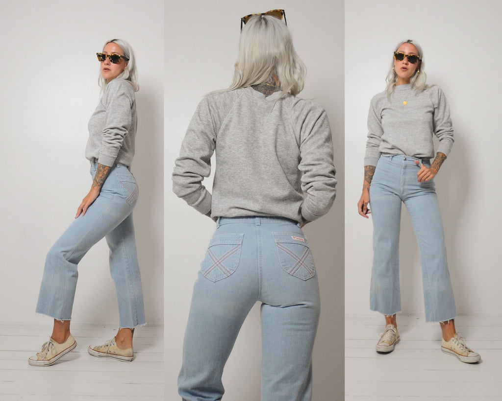 70's Light Wash Flared Jeans 25x27