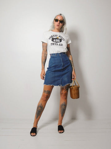 70's Cut off Denim Skirt