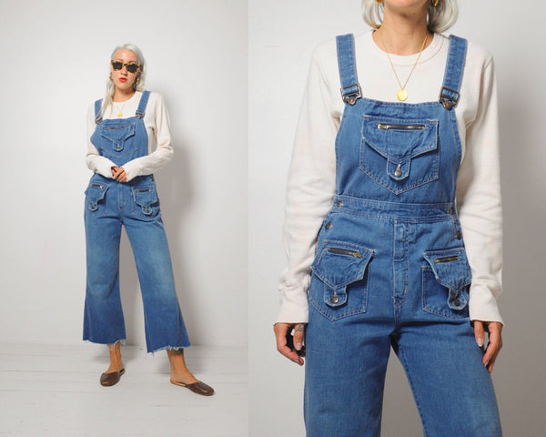 70's Carly Bellbottom Overalls