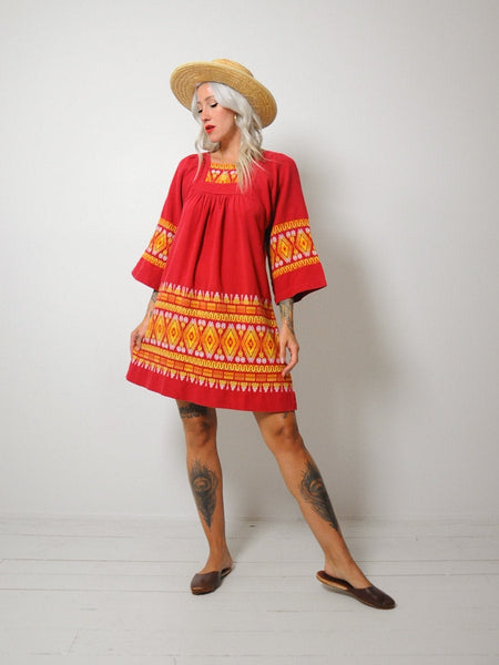 70's Brianna Embroidered Dress