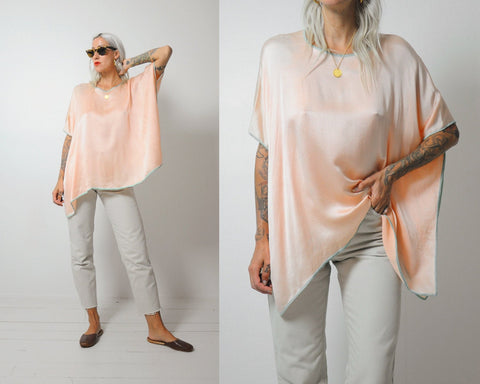 Minimalist Peach Silk Blouse