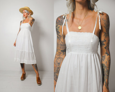 70's Cuthbert Eyelet Sundress
