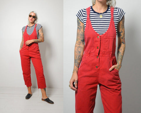 Lee Pinstriped Overalls