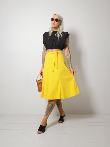 70's Canary Wrap Skirt