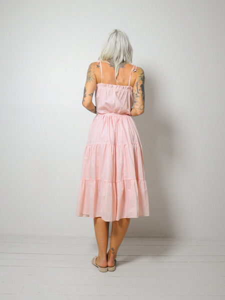 70's Polka dot Tiered Sundress