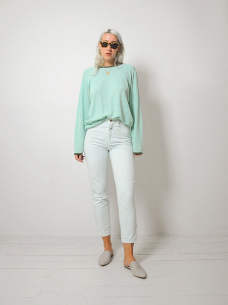 Mint Zipper ankle Jeans 26x27