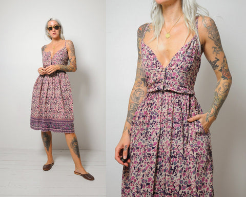 70's Melina India Cotton Sundress