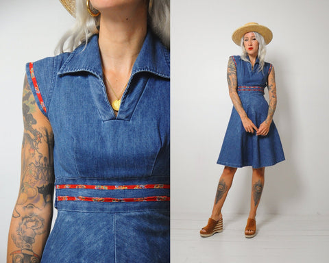 70's Joanna Denim Dress
