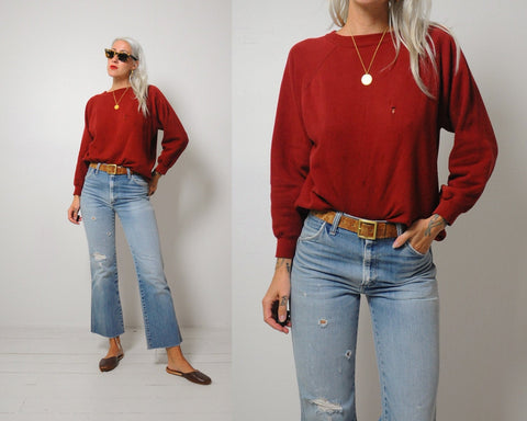 Soft Oxblood Sweatshirt