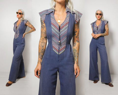 70's Janie Flared Jumpsuit