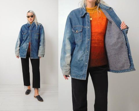 70's Flannel Lined Chore Coat