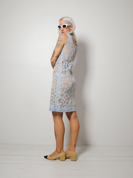 50's Irish Linen Lace Dress