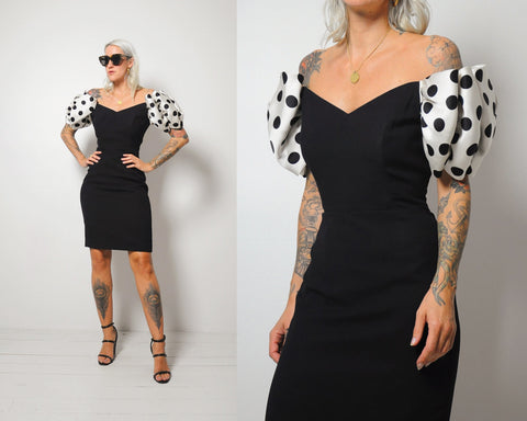 Dot Origami Sleeve Dress