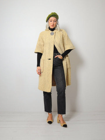 60's Vanilla Wool Swing Coat
