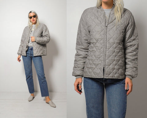Quilted Liner Bomber Jacket