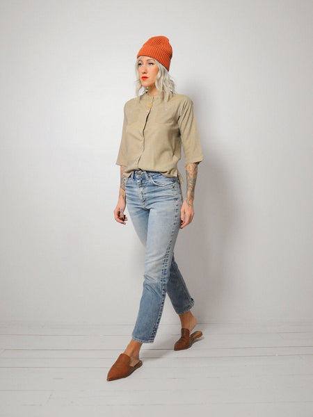 Wheat Minimal Thin Blouse