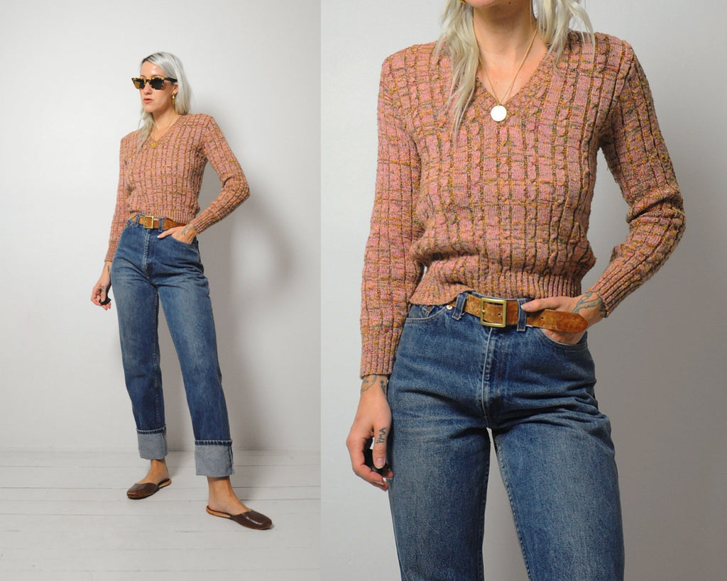 70's Cindy Cableknit Sweater