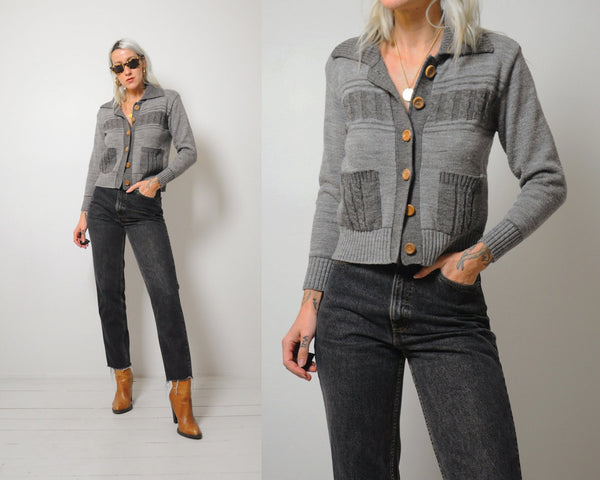 70's Cropped Cardigan sweater