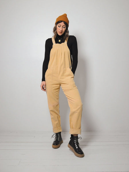 Tan Corduroy Overall Jumpsuit