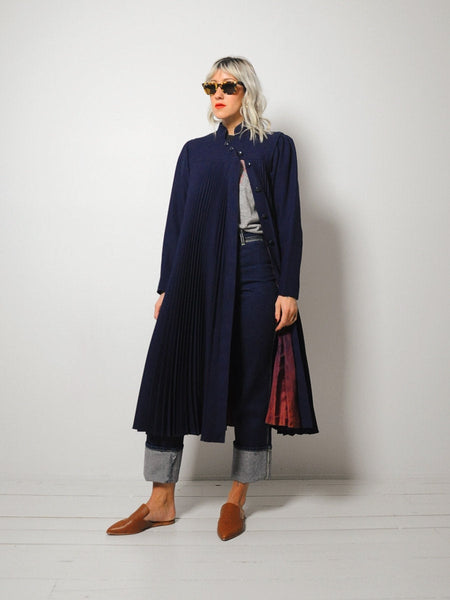 60's Pleated Trapeze Coat