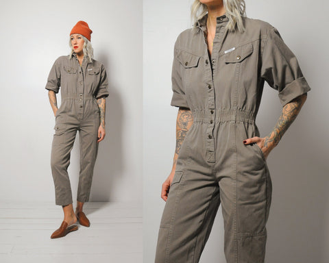 Cate Canvas Flight Jumpsuit