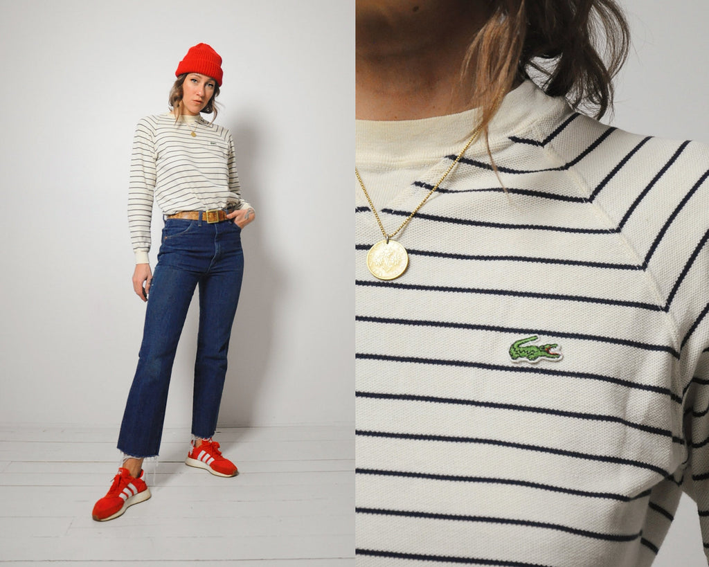 Striped Piqué Lacoste Shirt