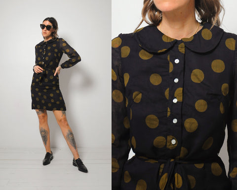60's Mr. Mort Polka Dot Dress