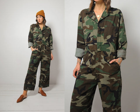 Military Camouflage Coveralls