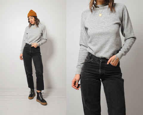 70's Softest Gray Crewneck
