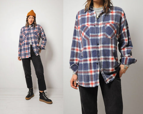 Plaid Faded Grunge Flannel