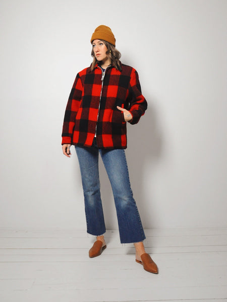 Buffalo Plaid Woolrich Coat