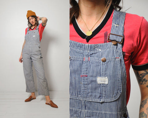 Big Mac Hickory Striped Overalls