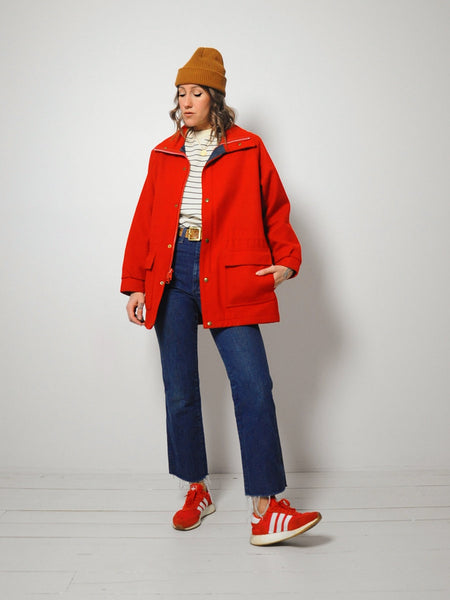 Red Woolrich Parka